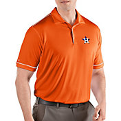 Antigua Men's Houston Astros Salute Orange Performance Polo