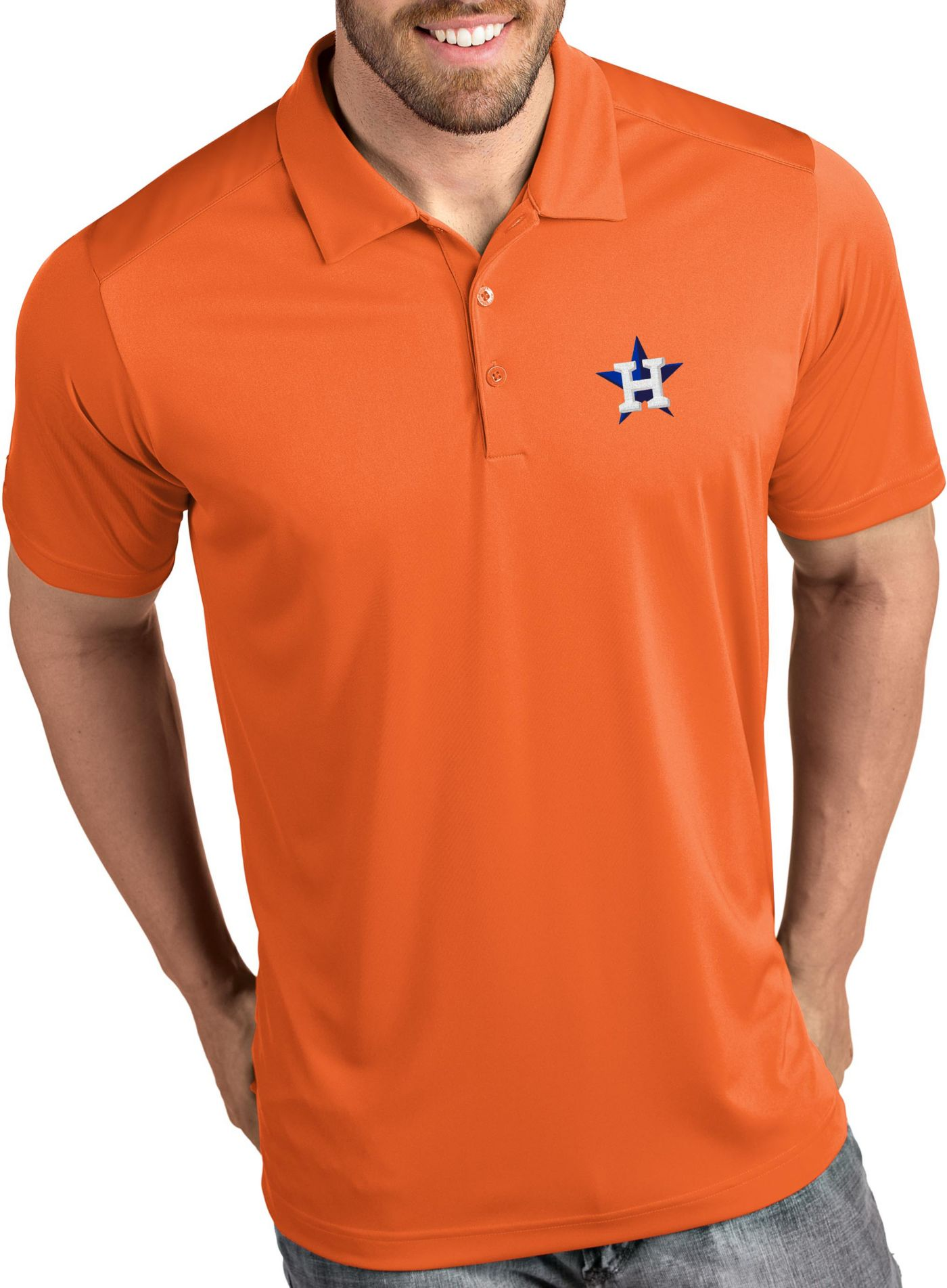 Antigua Men's Houston Astros Tribute Orange Performance  Polo