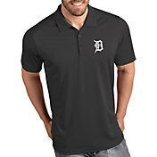 Antigua Men's Detroit Tigers Tribute Grey Performance  Polo