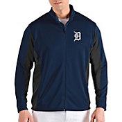 Antigua Men's Detroit Tigers Navy Passage Full-Zip Jacket