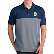 Antigua Men's Detroit Tigers Venture Navy Performance Polo