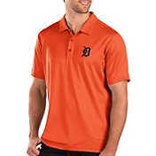 Antigua Men's Detroit Tigers Orange Balance Polo