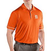 Antigua Men's Detroit Tigers Salute Orange Performance Polo