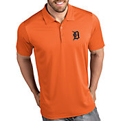 Antigua Men's Detroit Tigers Tribute Orange Performance  Polo