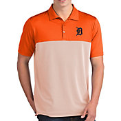 Antigua Men's Detroit Tigers Venture Orange Performance Polo