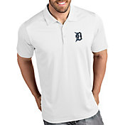 Antigua Men's Detroit Tigers Tribute White Performance  Polo
