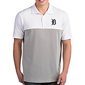 Antigua Men's Detroit Tigers Venture White Performance Polo