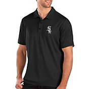Antigua Men's Chicago White Sox Black Balance Polo