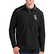 Antigua Men's Chicago White Sox Black Glacier Quarter-Zip Pullover