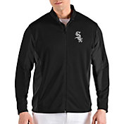 Antigua Men's Chicago White Sox Black Passage Full-Zip Jacket