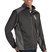 Antigua Men's Chicago White Sox Revolve Grey Full-Zip Jacket
