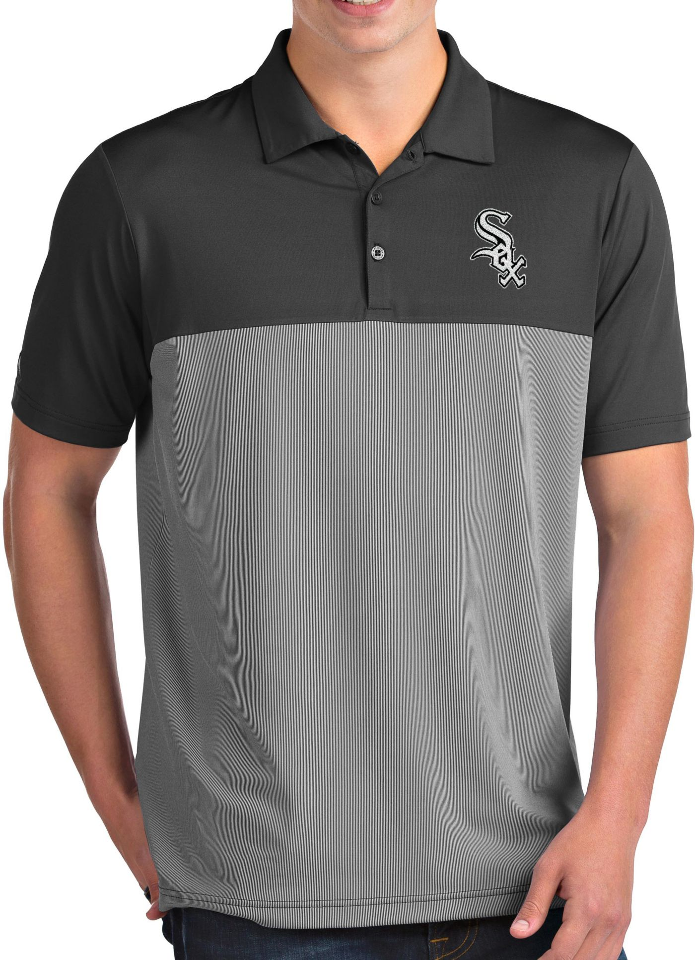Antigua Men's Chicago White Sox Venture Grey Performance Polo