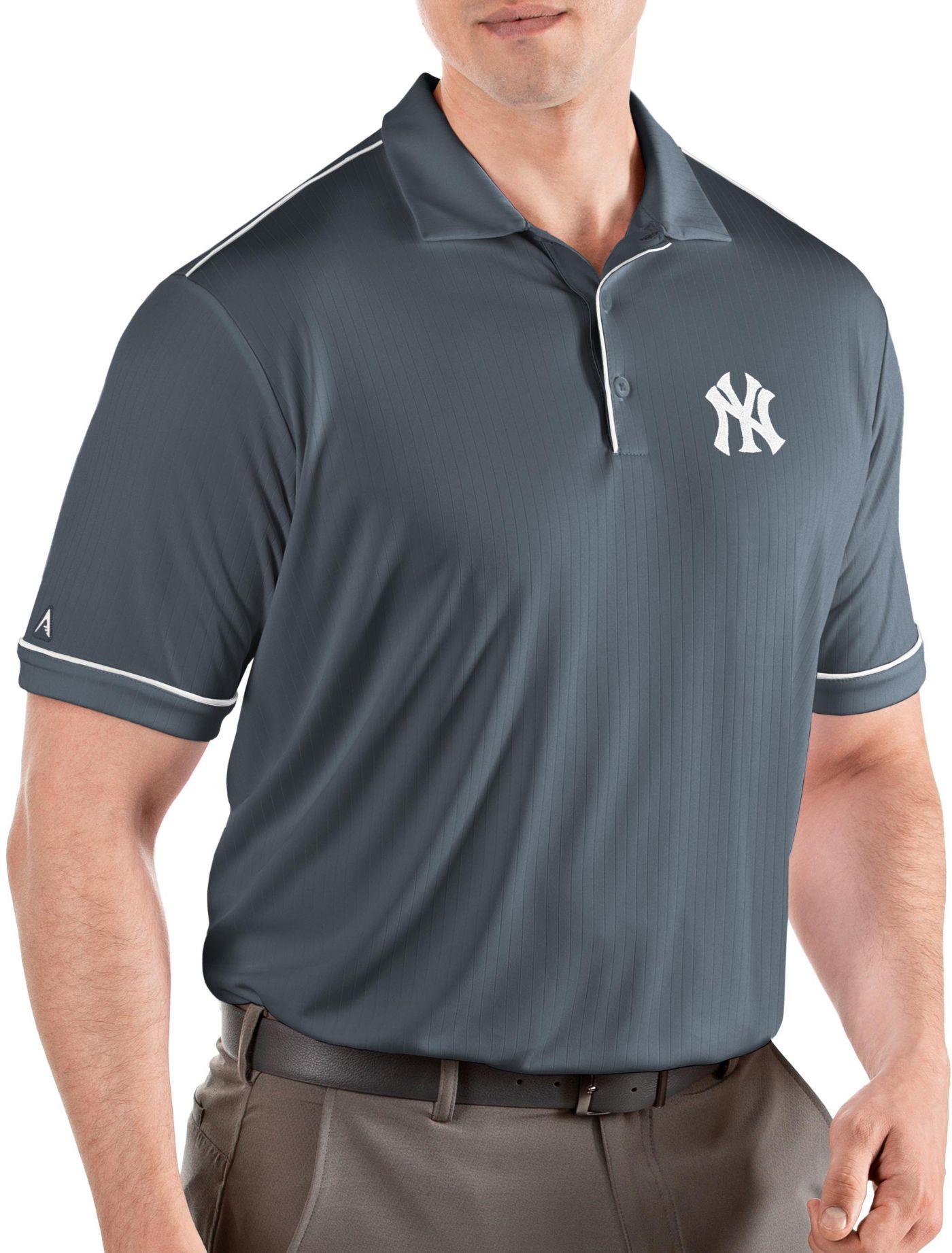 Antigua Men's New York Yankees Salute Grey Performance Polo