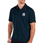 Antigua Men's New York Yankees Navy Balance Polo