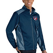 Antigua Men's FC Dallas Revolve Navy Full-Zip Jacket