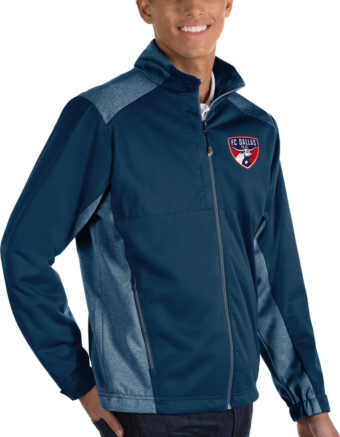 Antigua Men's FC Dallas Revolve Navy Full-Zip Jacket