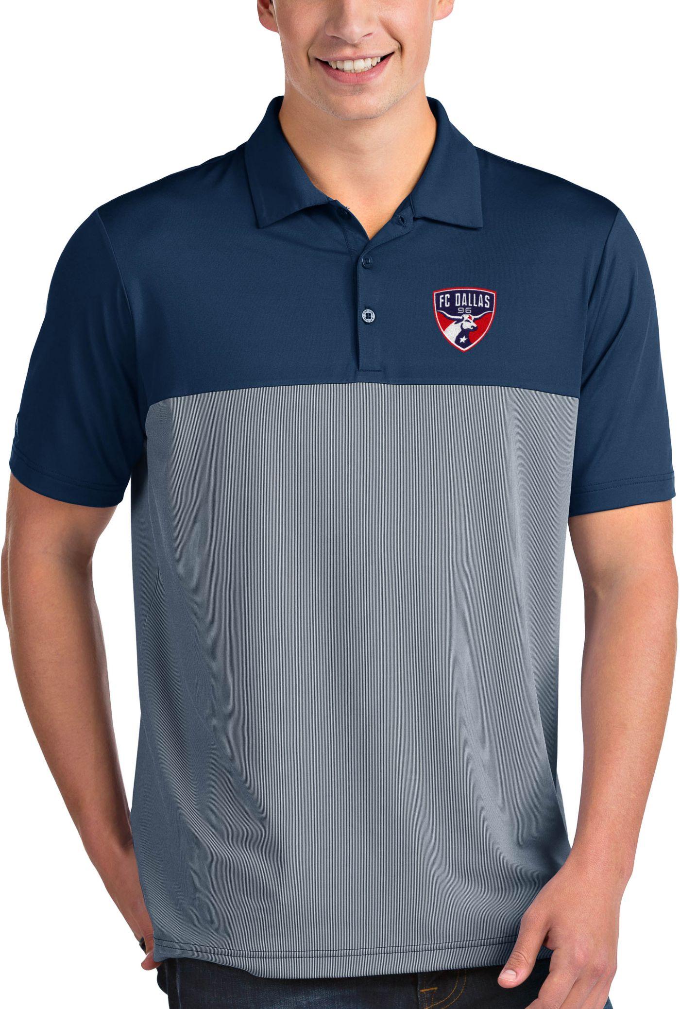 Antigua Men's FC Dallas Venture Navy Polo