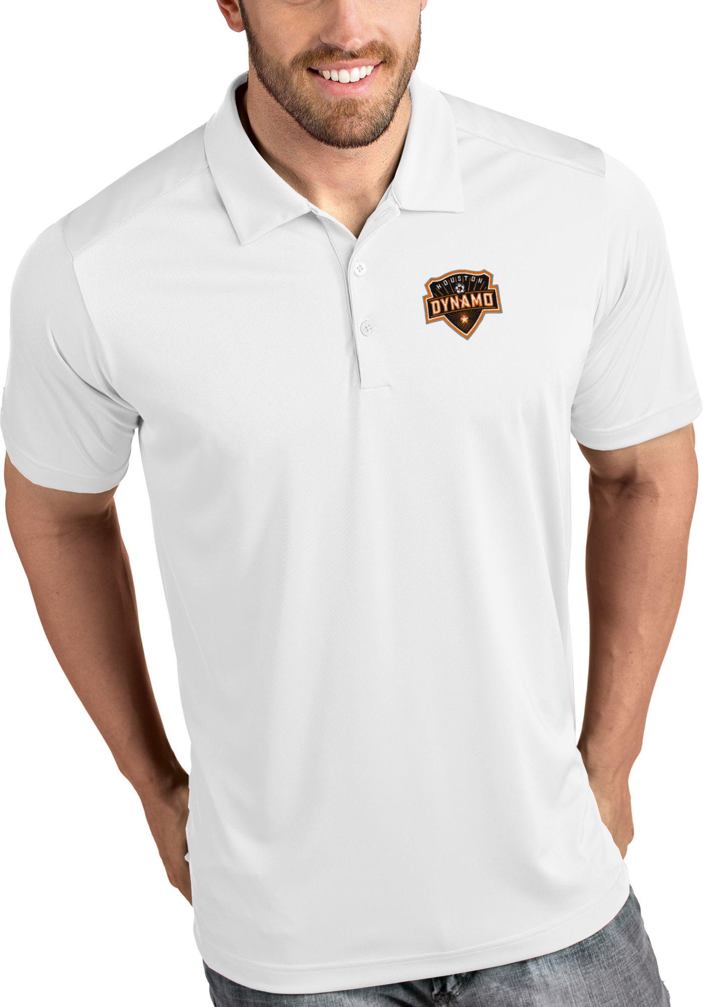 Antigua Men's Houston Dynamo Tribute White Polo