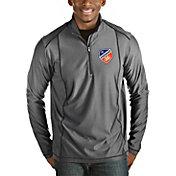 Antigua Men's FC Cincinnati Tempo Heather Grey Quarter-Zip Pullover