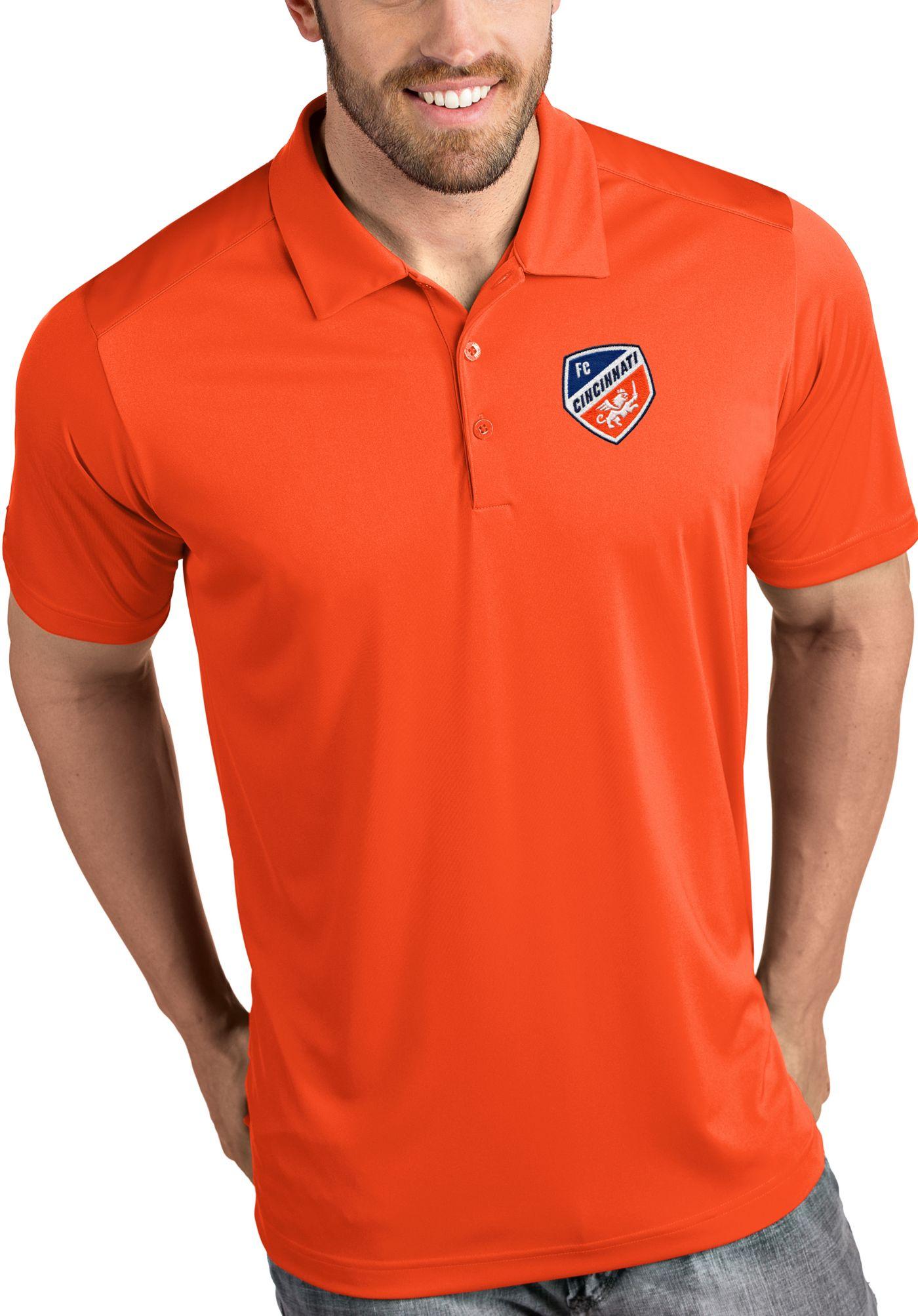 Antigua Men's FC Cincinnati Tribute Orange Polo