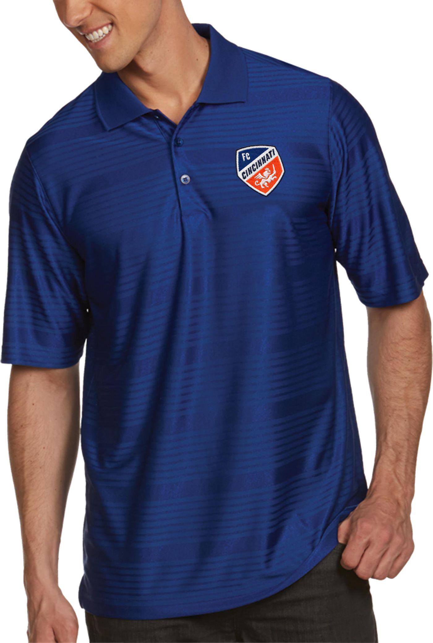 Antigua Men's FC Cincinnati Illusion Royal Pullover