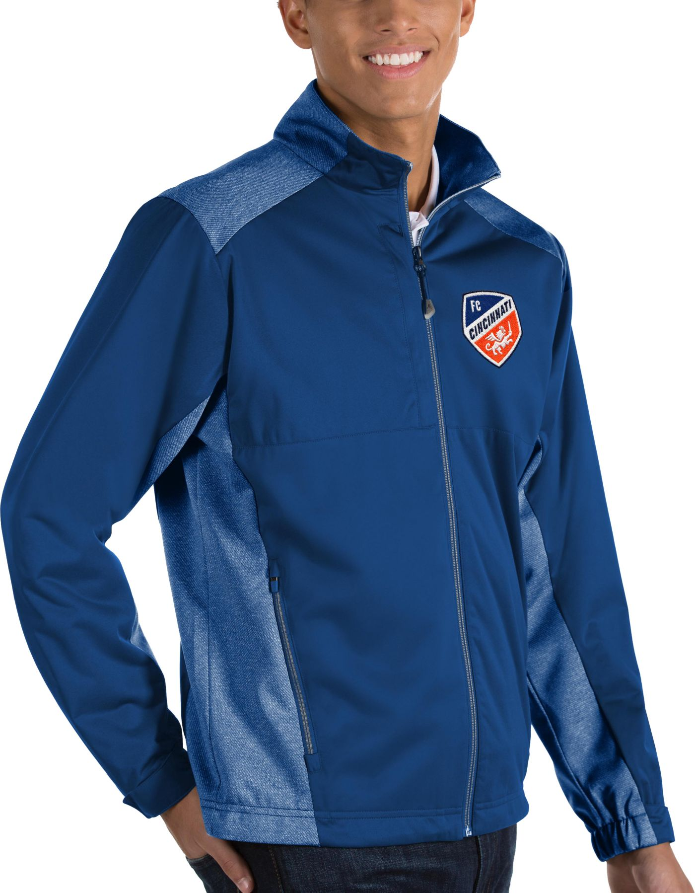 Antigua Men's FC Cincinnati Revolve Royal Full-Zip Jacket