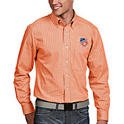 Antigua Men's FC Cincinnati Associate Orange Button Down Long Sleeve Shirt