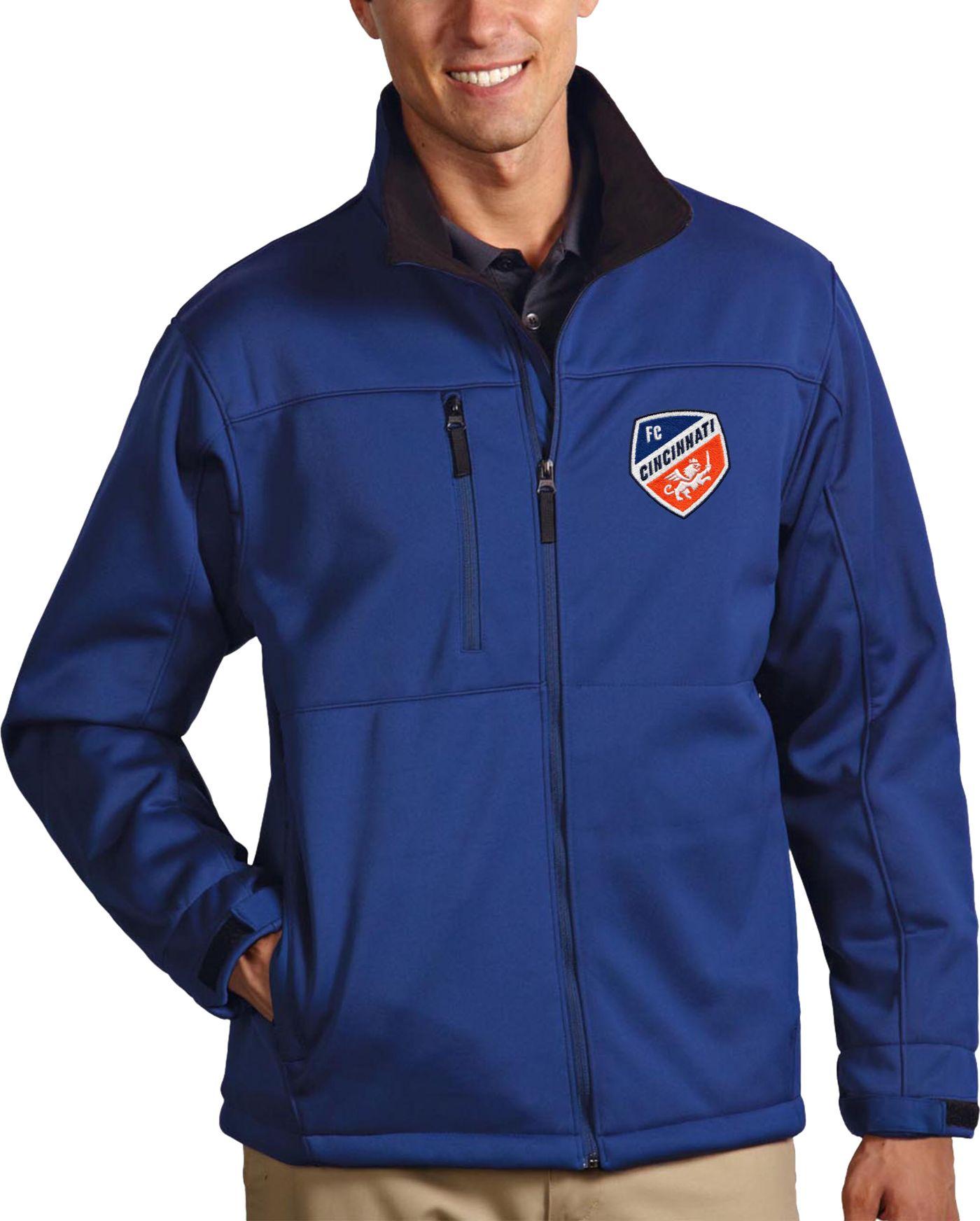 Antigua Men's FC Cincinnati Traverse Royal Full-Zip Jacket