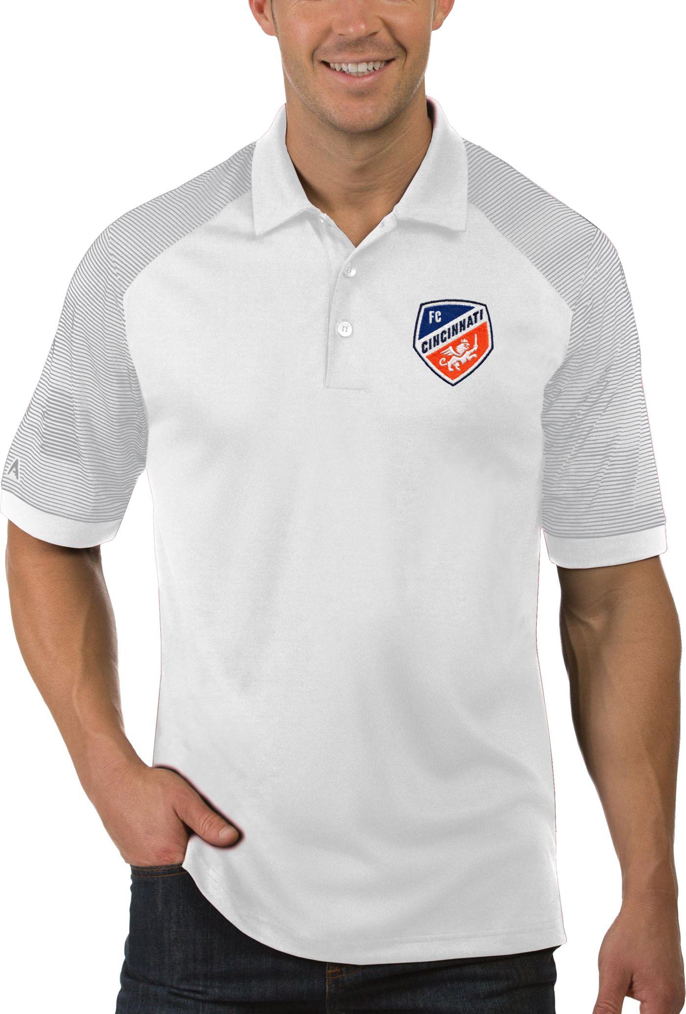 Antigua Men's FC Cincinnati Engage White Polo