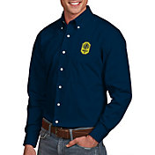 Antigua Men's Nashville SC Dynasty Navy Button Down Long Sleeve Shirt