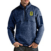 Antigua Men's Nashville SC Fortune Navy Quarter-Zip Pullover