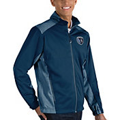 Antigua Men's Sporting Kansas City Revolve Navy Full-Zip Jacket