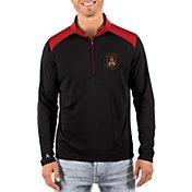 Antigua Men's Atlanta United Velocity Black Quarter-Zip Pullover