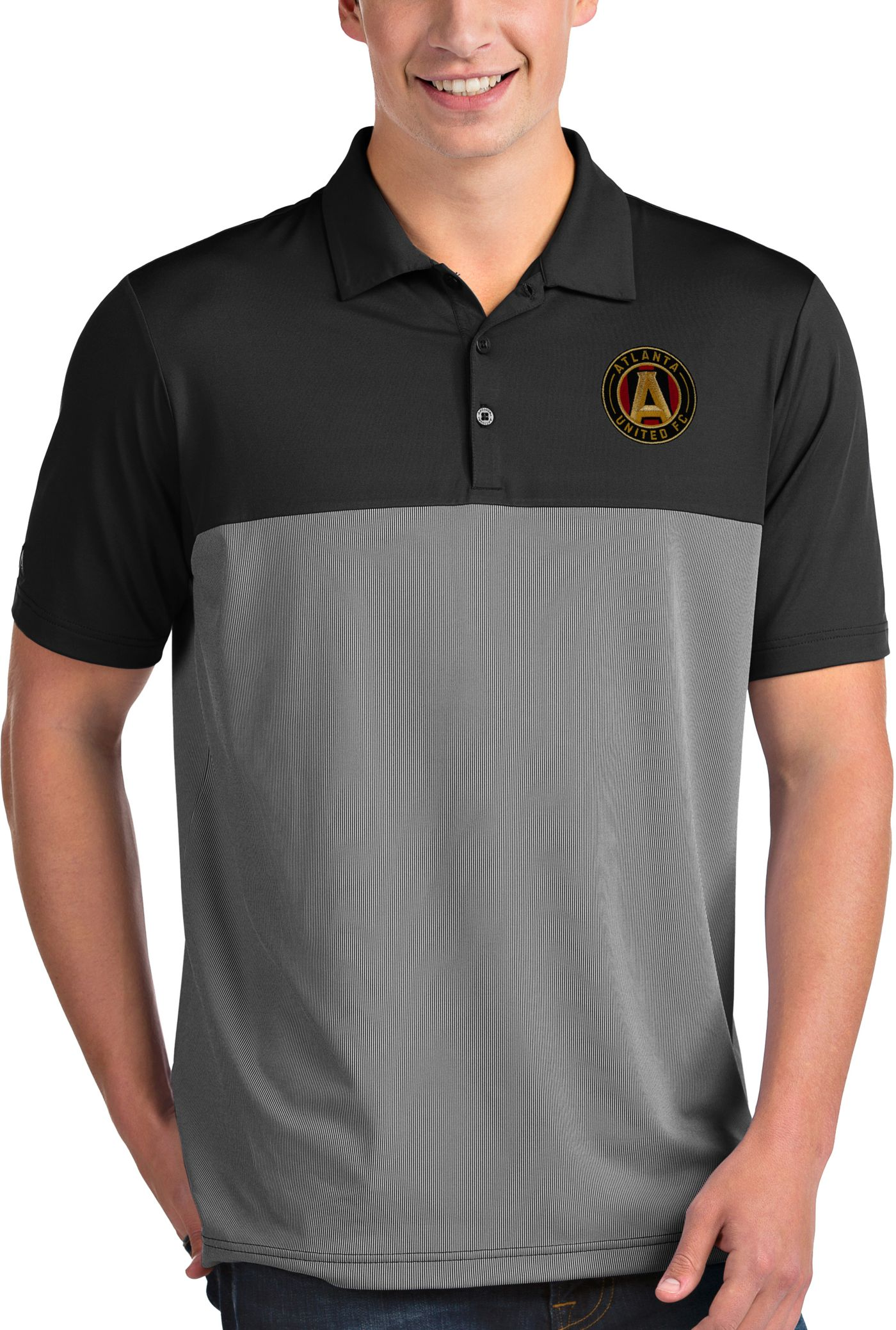 Antigua Men's Atlanta United Venture Black Polo