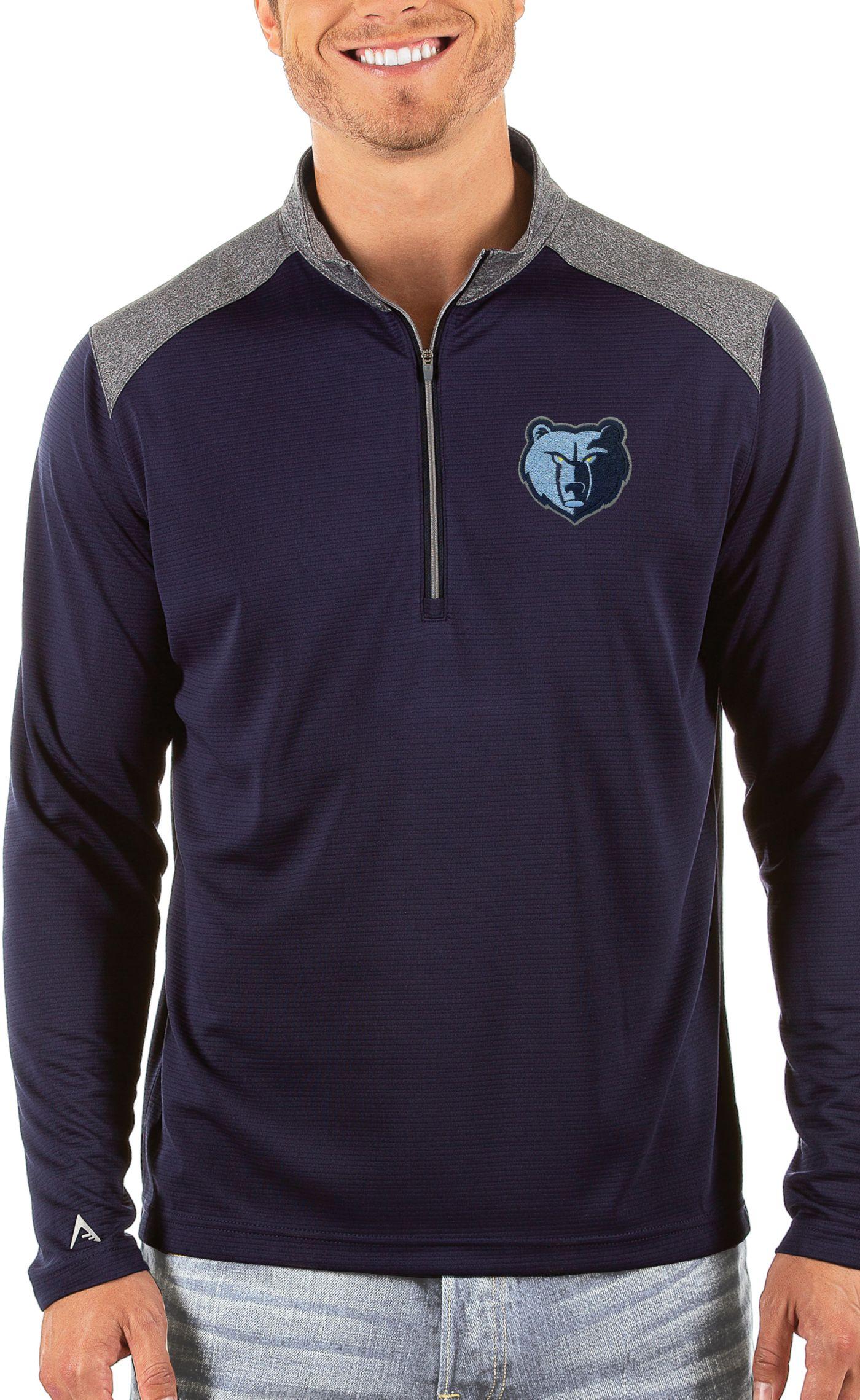 Antigua Men's Memphis Grizzlies Velocity Quarter-Zip Pullover