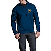 Antigua Men's Indiana Pacers Leader Navy Quarter-Zip Pullover