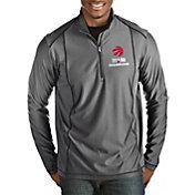 Antigua Men's 2019 NBA Champions Toronto Raptors Tempo Grey Quarter-Zip Pullover