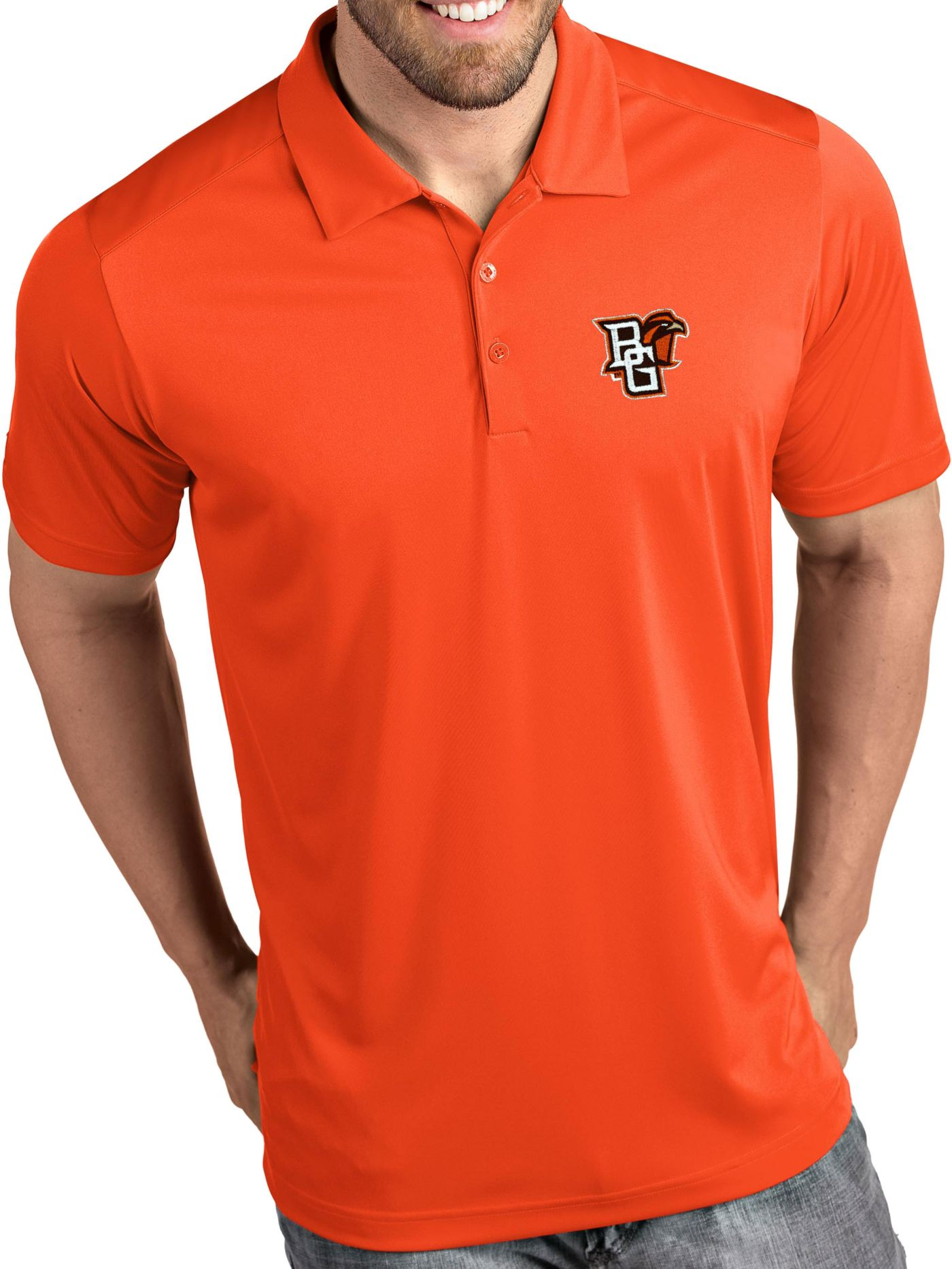 Antigua Men's Bowling Green Falcons Orange Tribute Performance Polo