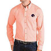 Antigua Men's Boise State Broncos Orange Structure Button Down Long Sleeve Shirt