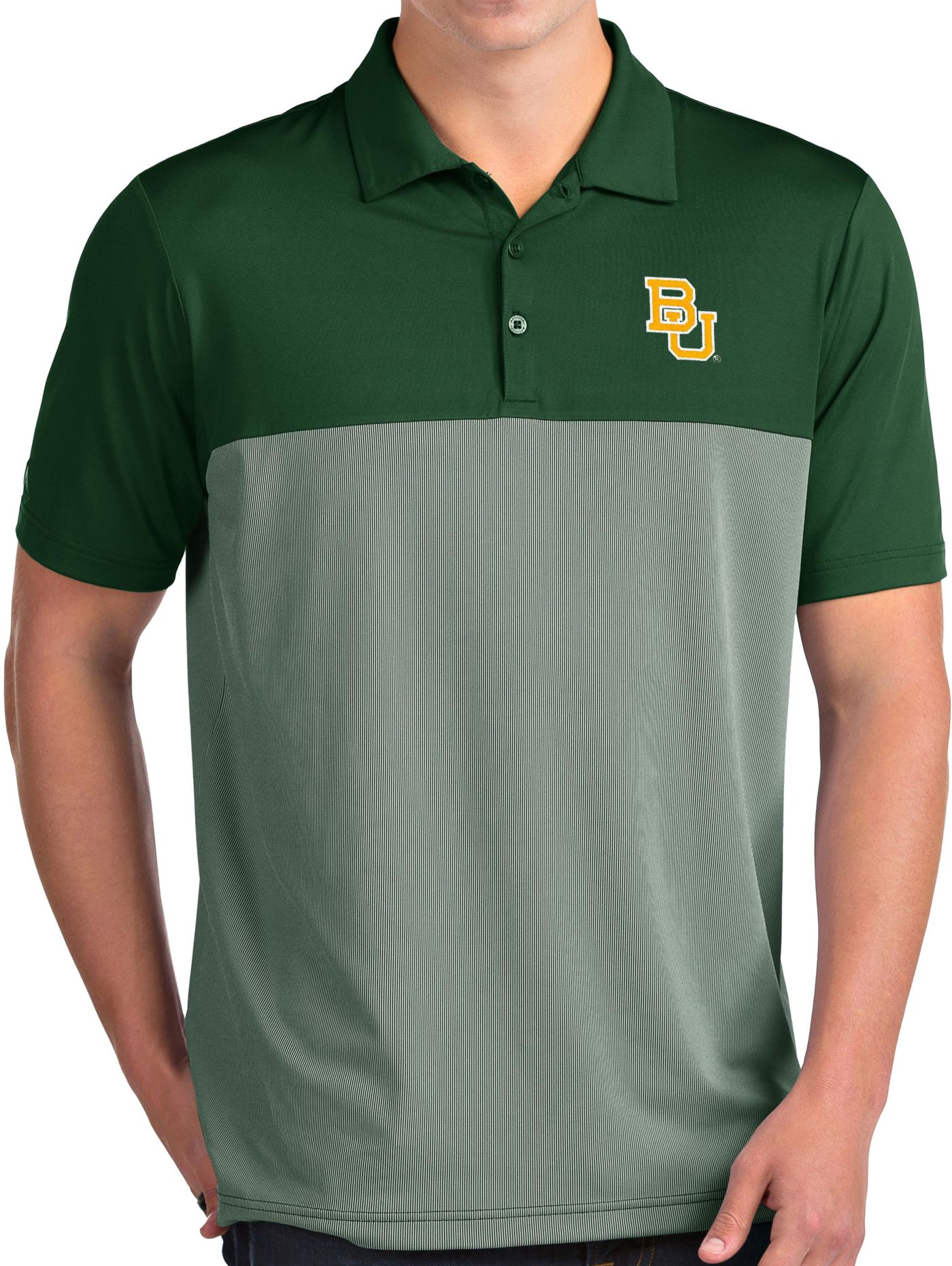 Antigua Men's Baylor Bears Green Venture Polo