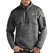 Antigua Men's 2019-20 College Football National Championship Bound Clemson Tigers Grey Fortune Pullover Jacket