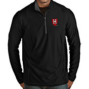 Antigua Men's Harvard Crimson Tempo Half-Zip Black Pullover