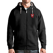Antigua Men's Harvard Crimson Victory Full-Zip Black Hoodie