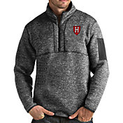Antigua Men's Harvard Crimson Grey Fortune Pullover Jacket