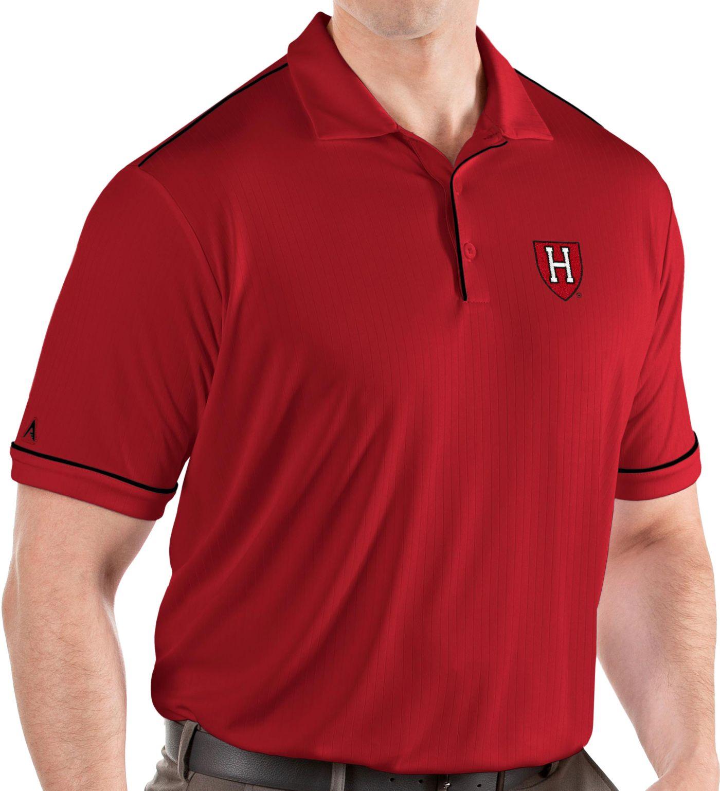Antigua Men's Harvard Crimson Crimson Salute Performance Polo
