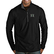Antigua Men's Hawai'i Warriors Tempo Half-Zip Black Pullover