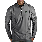 Antigua Men's Hawai'i Warriors Grey Tempo Half-Zip Pullover