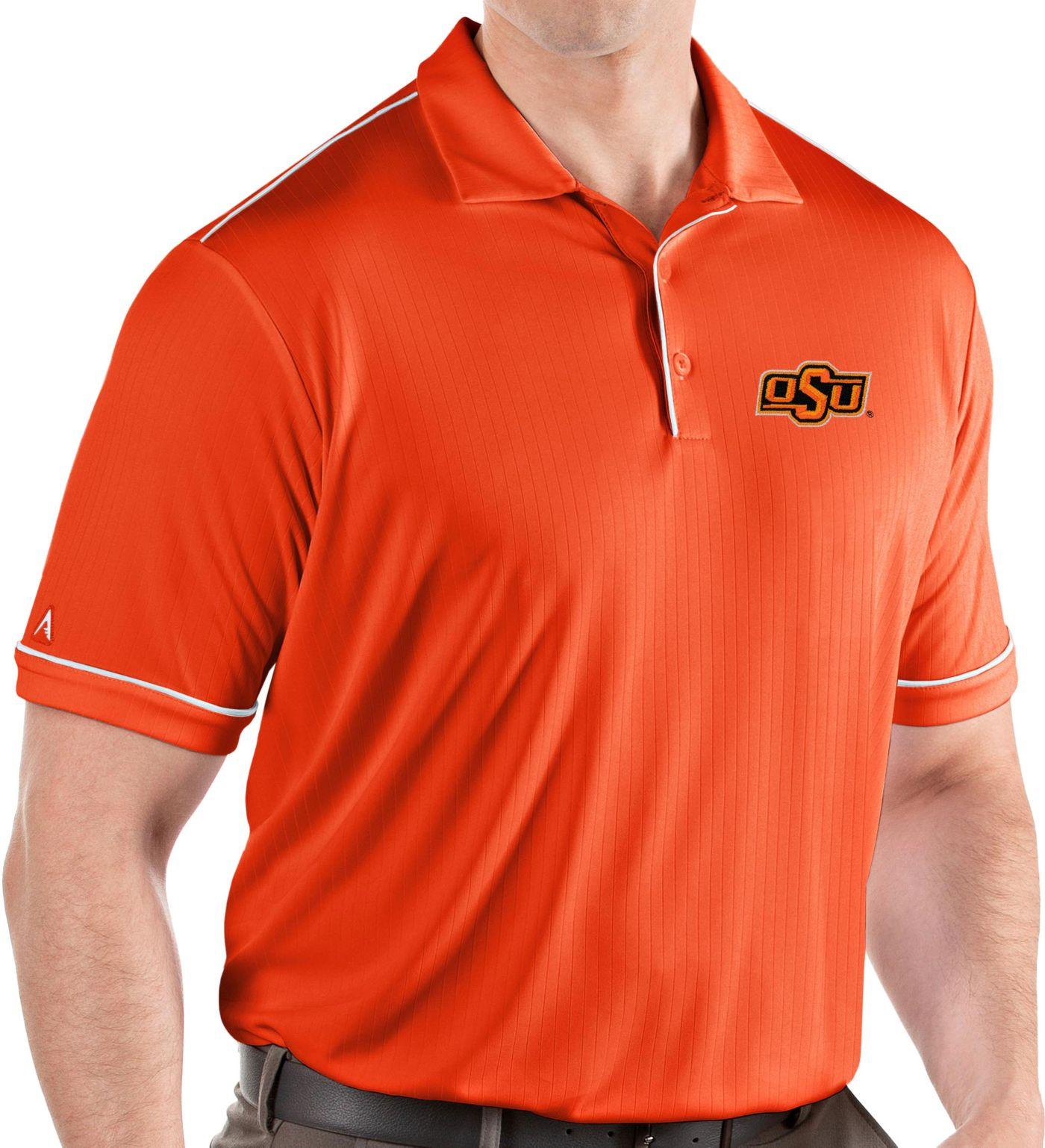 Antigua Men's Oklahoma State Cowboys Orange Salute Performance Polo