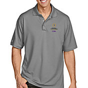 Antigua Men's 2019-20 College Football National Championship Bound LSU Tigers Grey Pique Xtra-Lite Polo