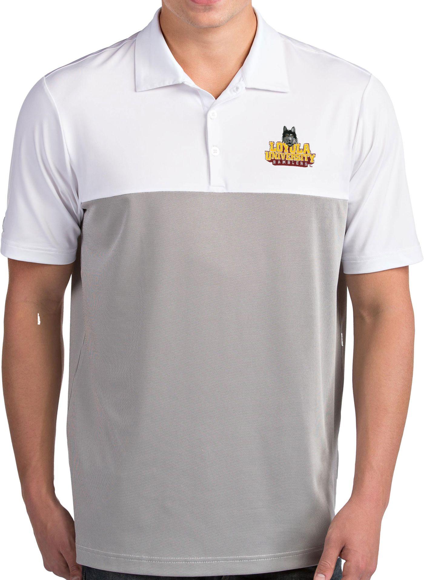Antigua Men's Loyola - Chicago Ramblers Venture White Polo
